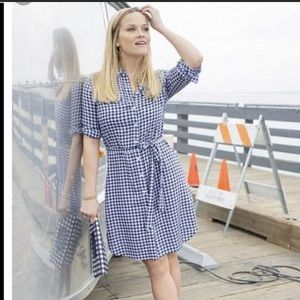 Draper James Belted Gingham Shirtdress 6